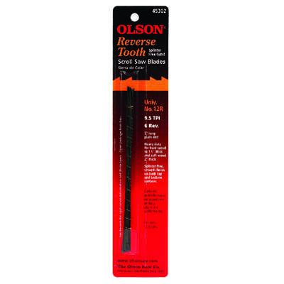 Olson  5 in. Carbon Steel  Scroll Saw Blade  9.8 TPI 12 pk