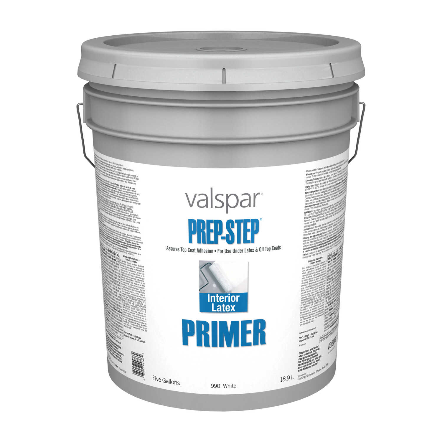 Valspar  Prep-Step  Basic White  Latex  5 gal. Primer