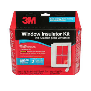 3M  Clear  Indoor  Window Film Insulator Kit  62 in. W x 84 in. L