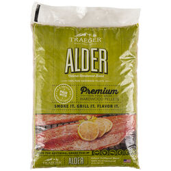 Traeger  All Natural Alder  Hardwood Pellets  20 lb.