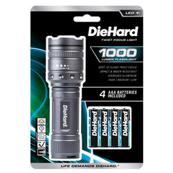 Dorcy  DieHard  1000 lumens Gray  LED  Flashlight  AAA Battery