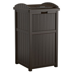 Suncast  Trash Hideaway  30 gal. Resin  Garbage Can  Lid Included