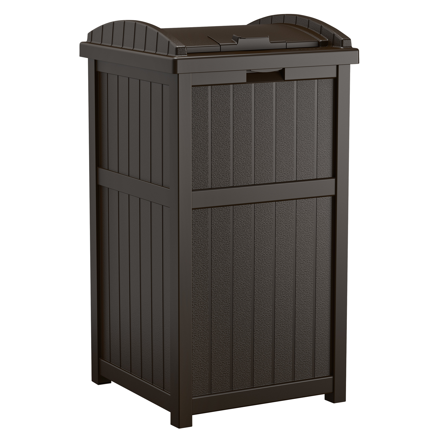 outdoor trash can. Suncast Trash Hideaway 30 Gal. Resin Wicker Garbage Can Outdoor