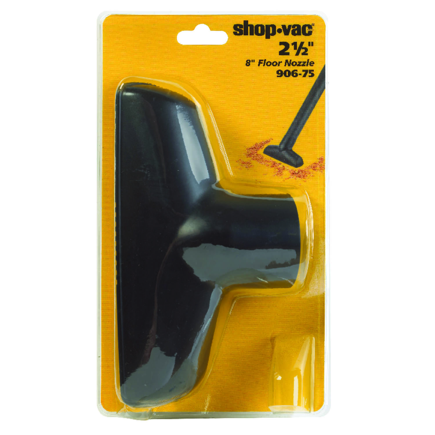 Shop-Vac  11  L x 8 in. W x 2-1/2 in. Dia. Floor Nozzle  Black  1 pc.