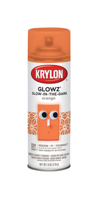 Krylon  Glowz  Orange  Glow-in-the-Dark Spray Paint  6 oz.