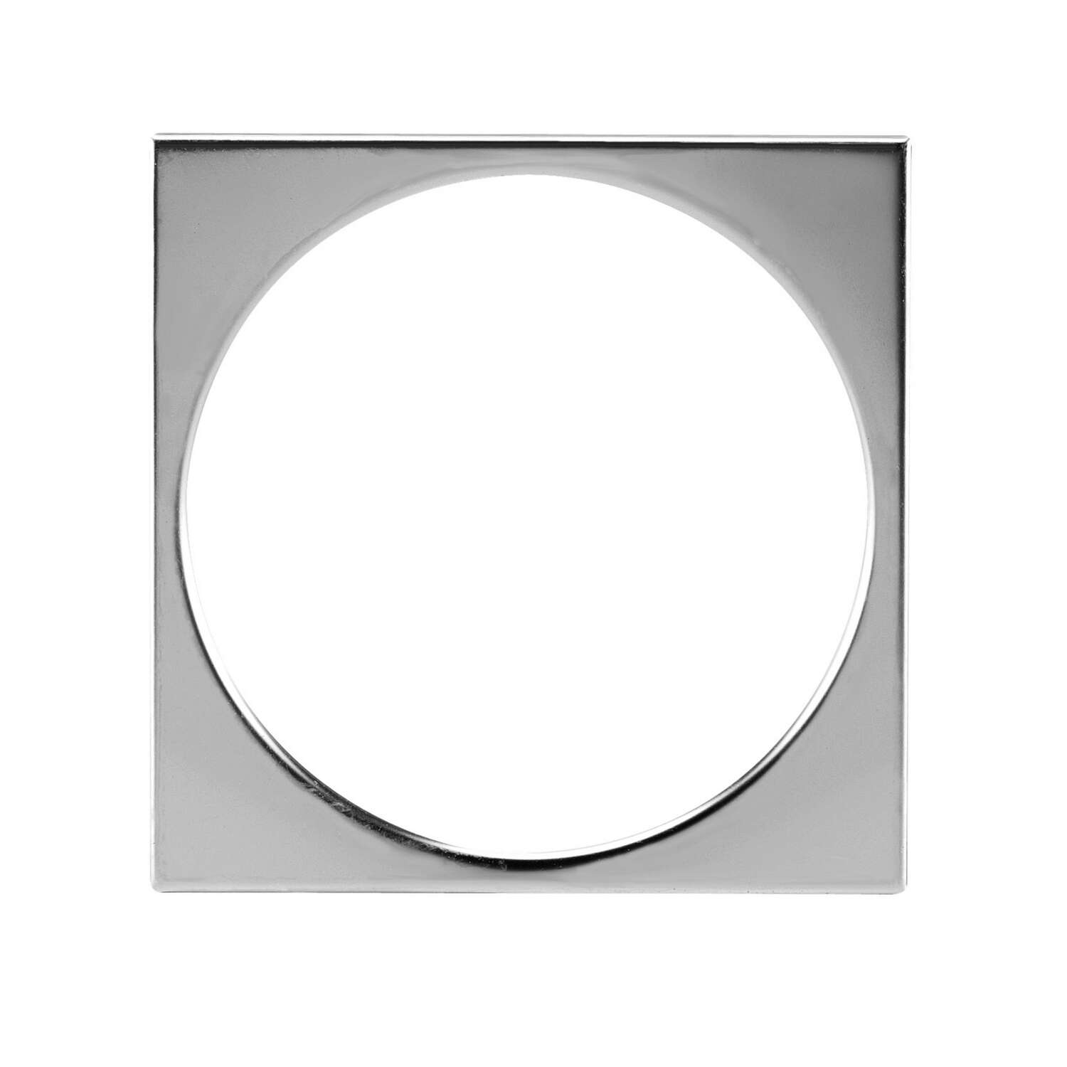 Oatey  3-1/4 in. Dia. Stainless Steel  Square Tile Ring
