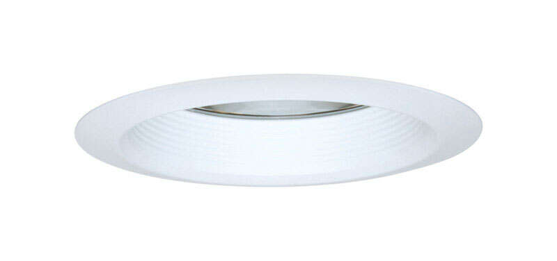 Halo  Matte  White  6 in. W Metal  Incandescent  Recessed Air Tite Trim