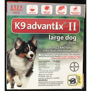 Bayer  K9 Advantix II  Liquid  Dog  Flea Drops  0.34 oz.