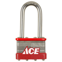 Ace  2 in. H x 1-3/4 in. W Stainless Steel  4-Pin Cylinder  Padlock  1 pk
