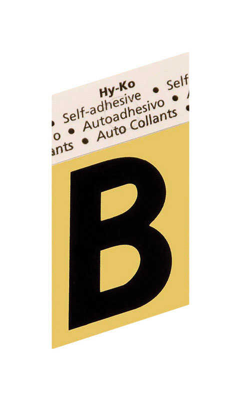 Hy-Ko  1-1/2 in. Black  Letter  Self-Adhesive  Aluminum  B