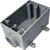 Cantex 2-1/4 in. Rectangle PVC 1 gang Electrical Box Gray