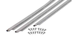 M-D Building Products  Silver  Aluminum/Vinyl  Weatherstrip  For Doors 84 in. L x 3/16 in.