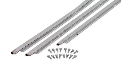 M-D  Silver  Aluminum/Vinyl  Weatherstrip  For Door Jambs