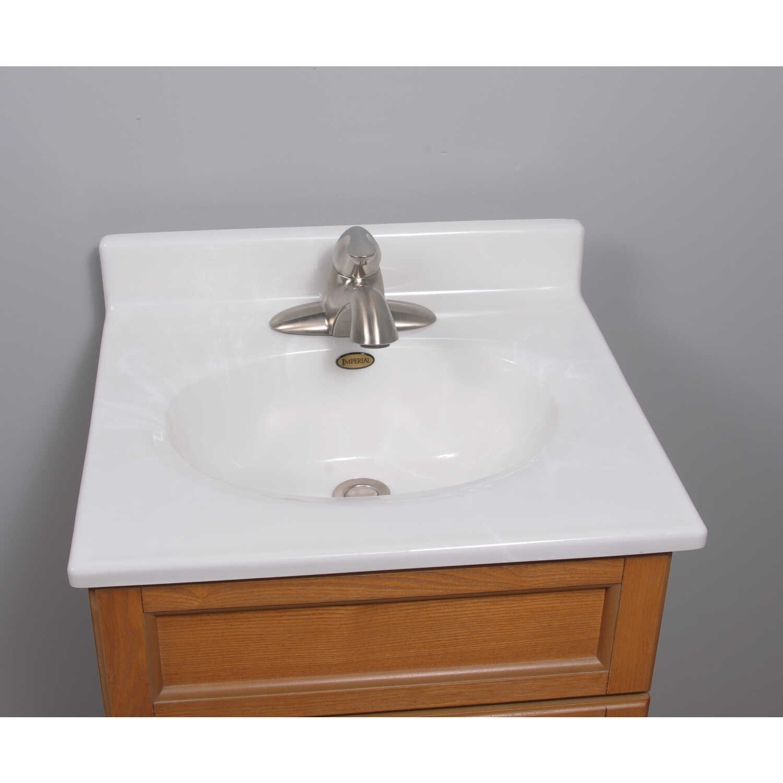 Imperial marble vanity top cultured marble single bowl 19 1 2 in x