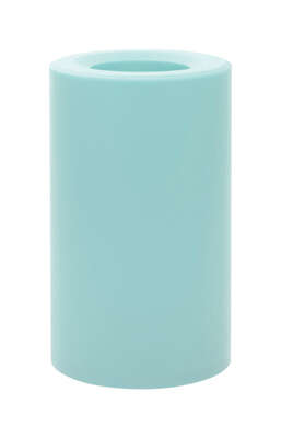 Paradise  Blue  Outdoor Pillar  Candle  5 in. H x 3 in. Dia.