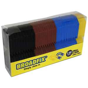 Broadfix  1.8 in. W x 8 in. L Plastic  Small U Shims  120 pk