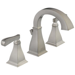 Delta  Lakewood  Spotshield Brushed Nickel  Two Handle  Lavatory Faucet  4 in.