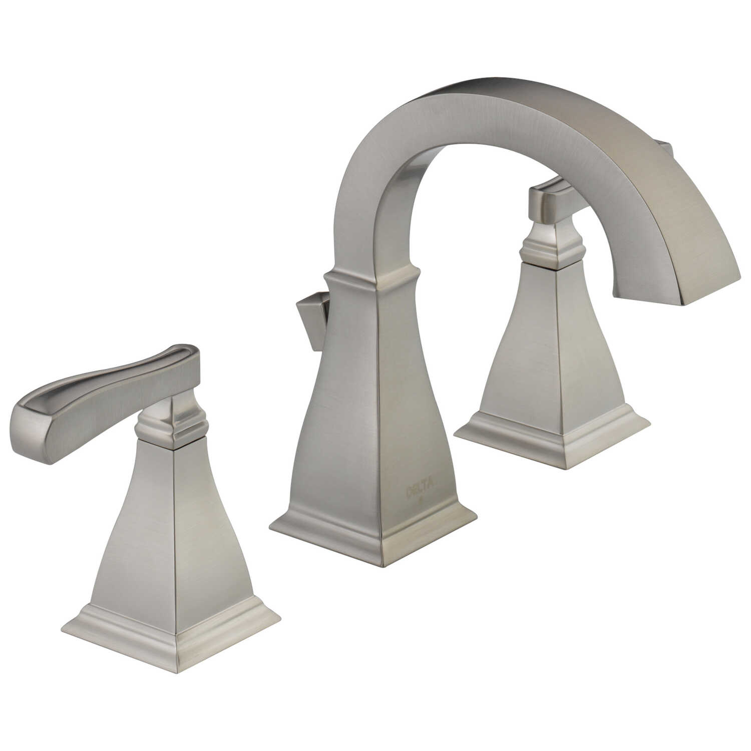 Delta  Lakewood  Two Handle  Lavatory Faucet  4 in. Spotshield Brushed Nickel