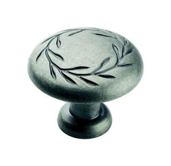 Amerock  Natures Splendor  Round  Cabinet Knob  1-5/16 in. Dia. 1-1/16 in. Weathered Nickel  1 pk