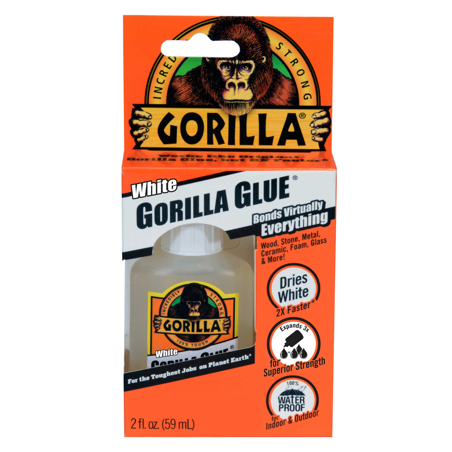 Gorilla  High Strength  Liquid  White Gorilla Glue  2 oz.