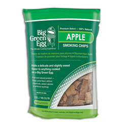 Big Green Egg  All Natural Apple  Wood Smoking Chips  180 cu. in.