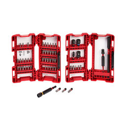 Milwaukee  SHOCKWAVE  Assorted  Impact Driver Bit Set  Steel  55 pc.