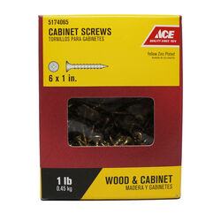 Ace  No. 6   x 1 in. L Phillips  Yellow Zinc-Plated  Cabinet Screws  1 lb. 330 pk