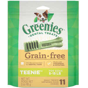 Greenies  Teenies  Chickpea & Potato  Dog  Grain Free Dental Stick  1 pk 3 oz.