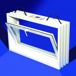 Duo-Corp PNP Hopper White Glass/Vinyl Window 20 in. W x 31-7/8 in. L 1 pk