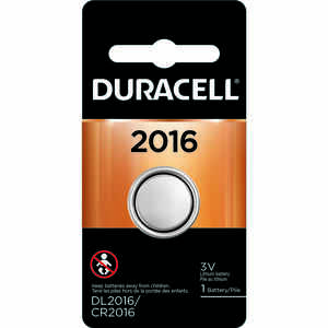 Duracell  Lithium  DL2016/CR2016  3 volt Security and Electronic Battery  1 pk