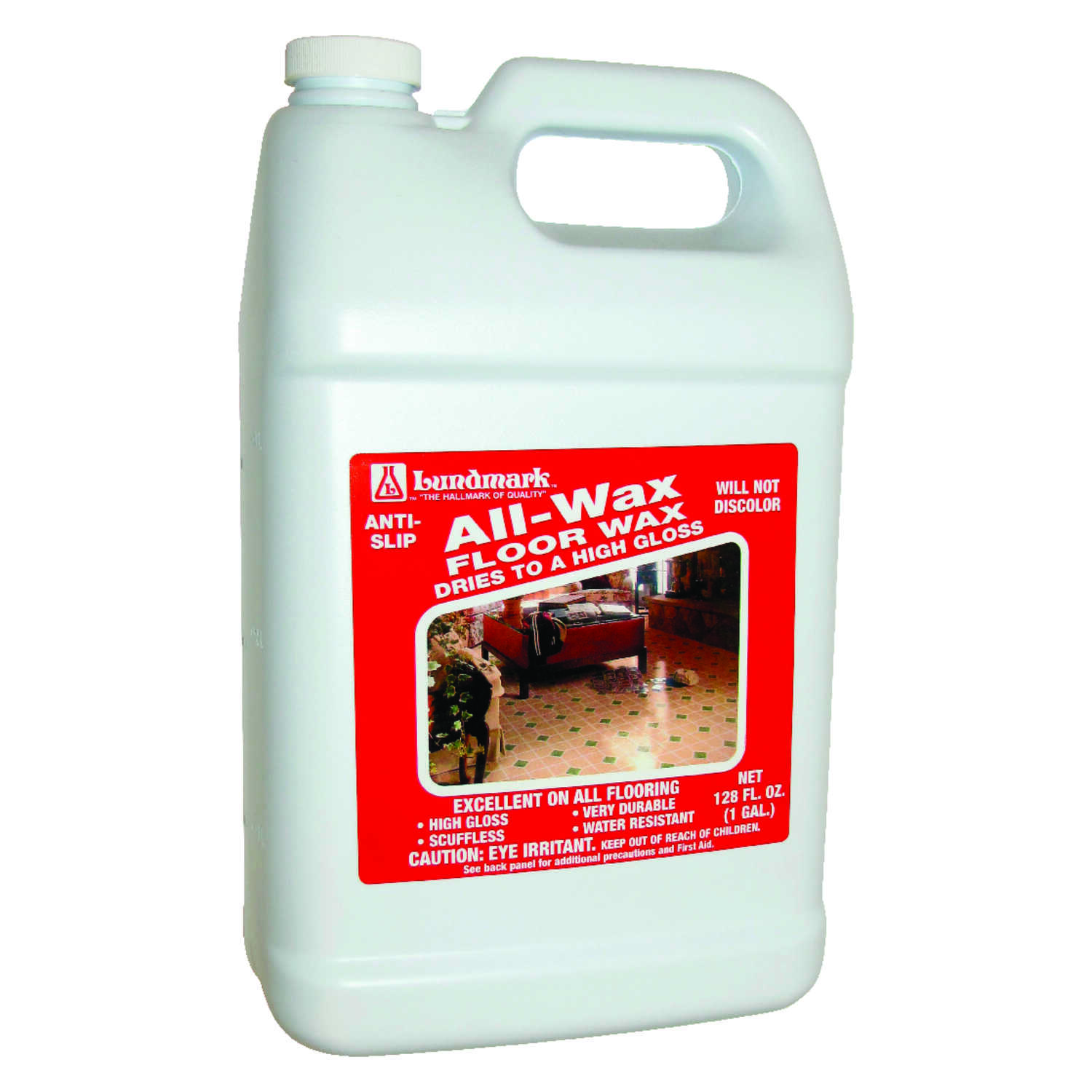 Lundmark  All Wax  High Gloss  Anti-Slip Floor Wax  Liquid  1 gal.