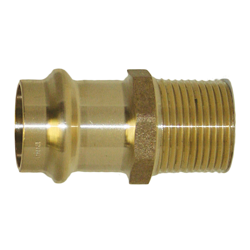 ApolloXpress  1/2 in. Press/CTS   x 1/2 in. Dia. MPT  Copper  Coupling