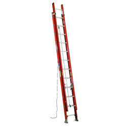 Werner  24 ft. H x 19 in. W Fiberglass  Extension Ladder  Type 1A  300 lb.
