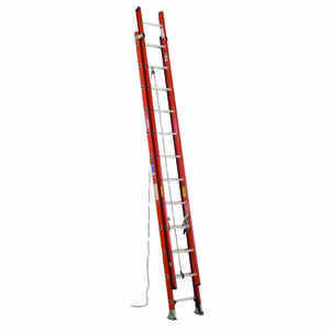Werner  24 ft. H x 19 in. W Fiberglass  Extension Ladder  Type IA  300 lb.
