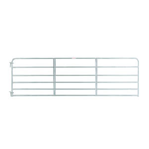 Tarter  50 in. H x 1.75 in. W 14 ft. Galvanized Steel  Tube Gate