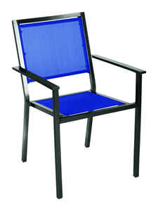 Living Accents  Black  Aluminum  Chair