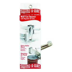 Swing-A-Way  Plated  Steel  Manual  Can Opener