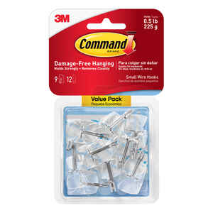 3M  Command  Small  Plastic  Hook  1-5/8 in. L 9 pk
