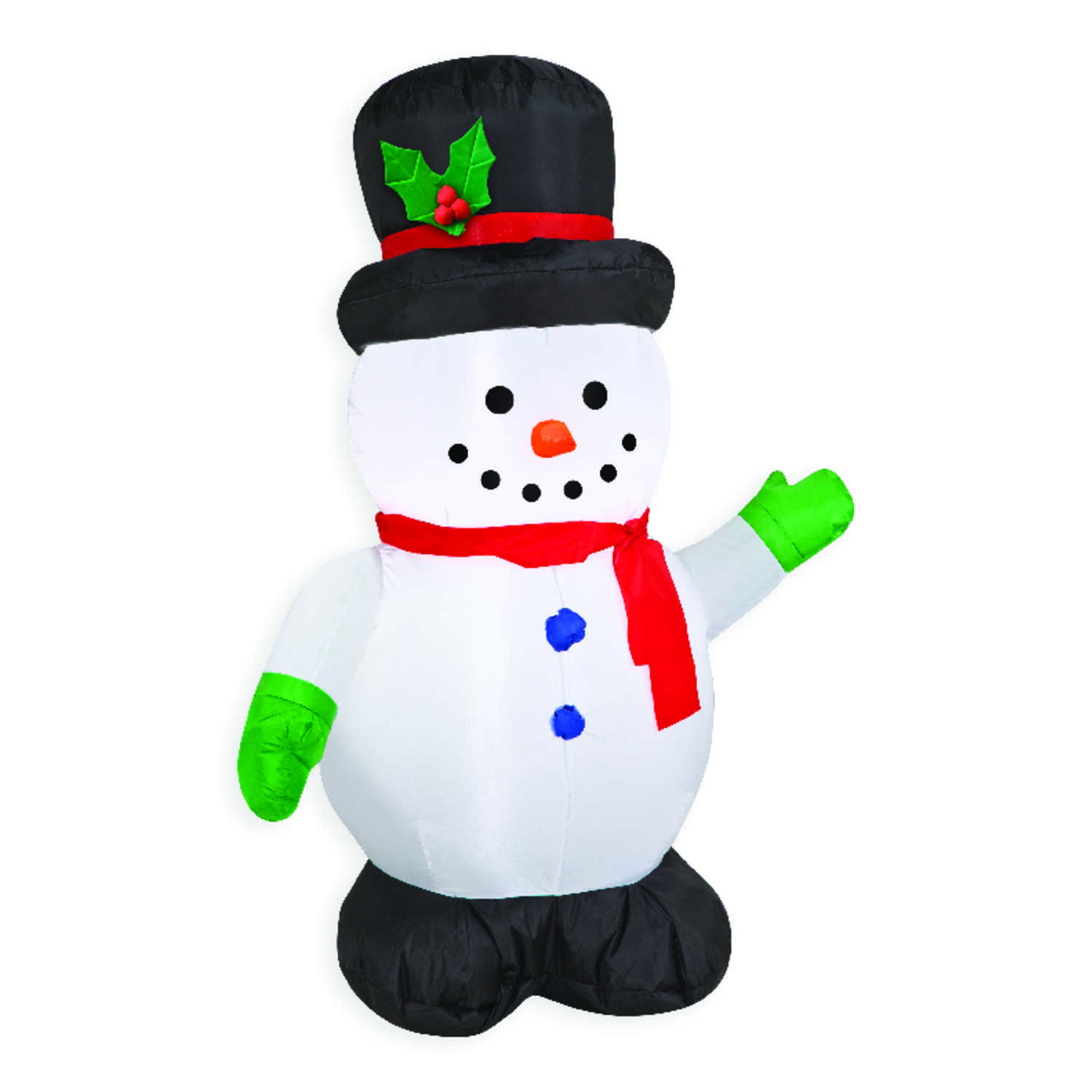 Gemmy  Airblown  Snowman  Christmas Inflatable  White  Felt  1 pk