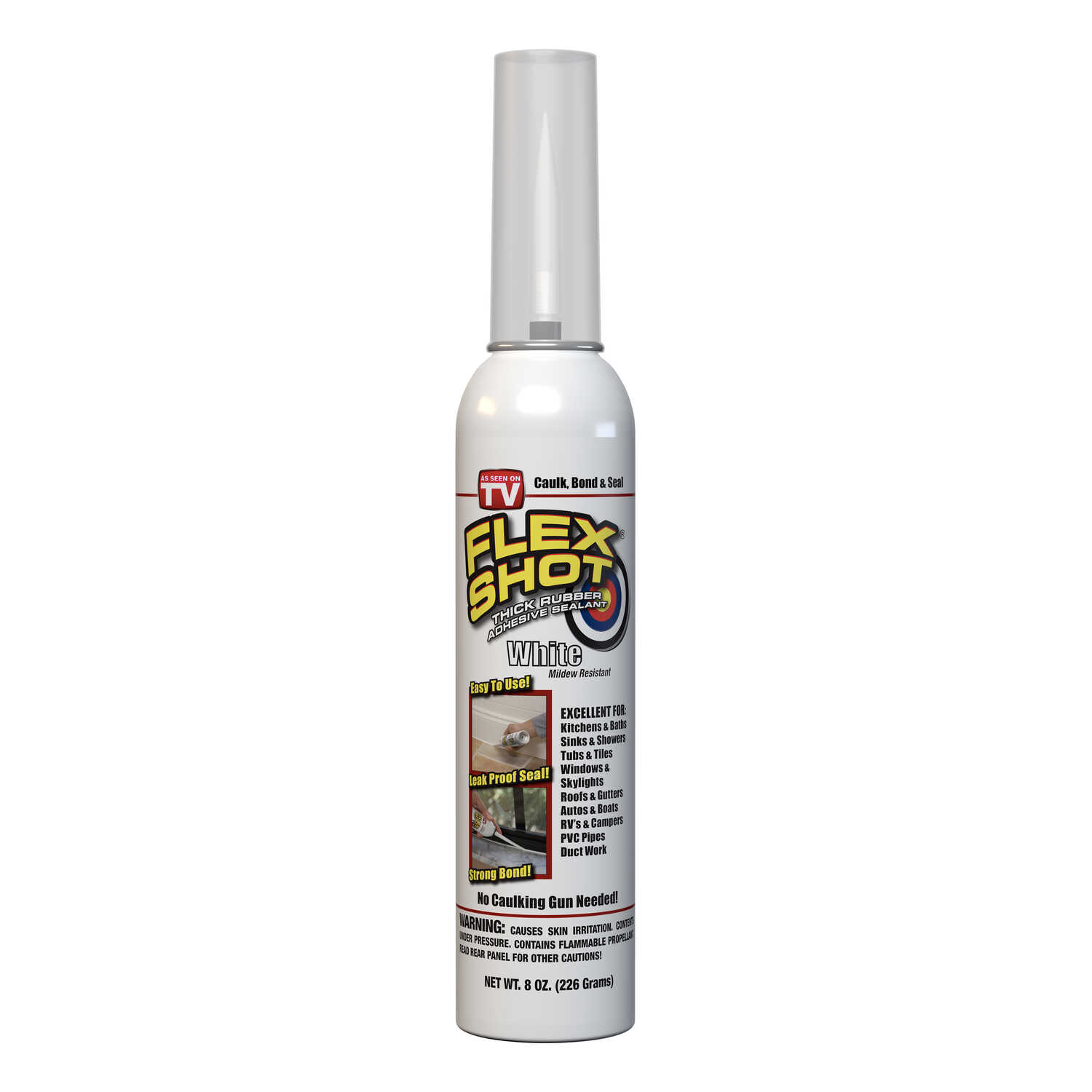 Flex Seal  As Seen On TV  White  Rubber Sealant  8 oz Can