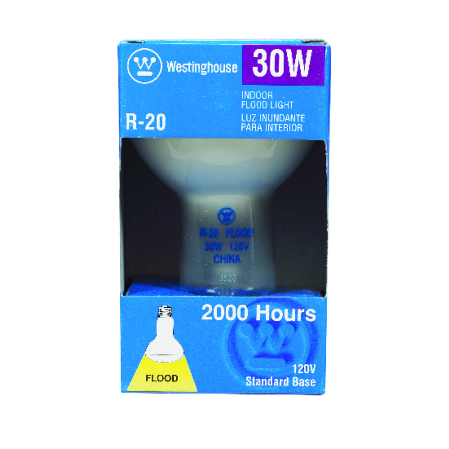 Westinghouse  30 watts R20  Incandescent Bulb  White  Floodlight  215 lumens 1 pk