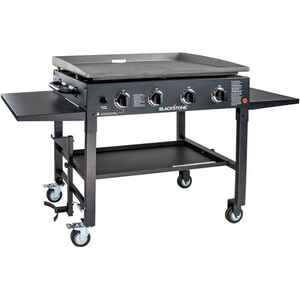 Blackstone  Liquid Propane  Patio  4 burners Black  Outdoor Griddle