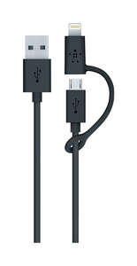 Belkin  Black  Cell Phone Charger  For Universal 3 ft. L x 4 ft. L