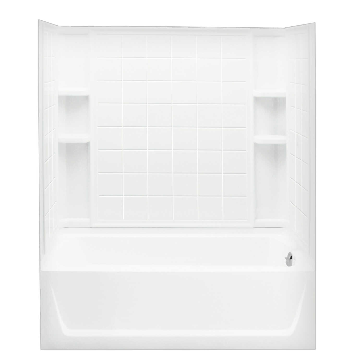 Sterling  Ensemble  16 in. H x 30 in. W x 60 in. L White  Bathtub  One Piece  Right Hand Drain  Rect
