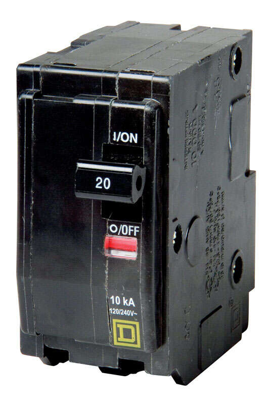 Square D  QO  20 amps Plug In  2-Pole  Circuit Breaker