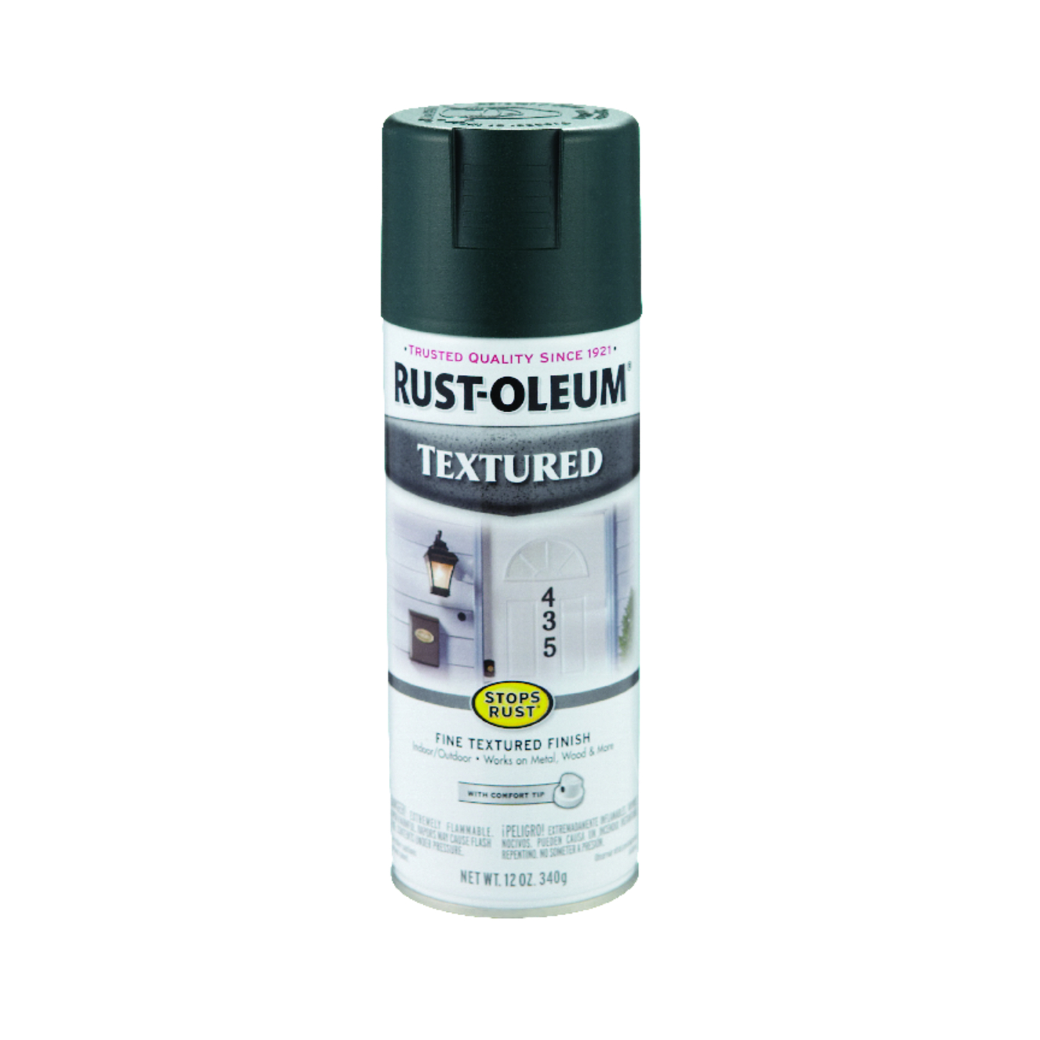 Rust-Oleum  Stops Rust  Textured  Spray Paint  12 oz. Forest Green