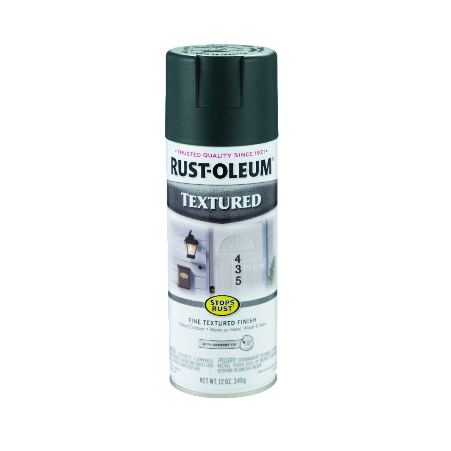 Rust Oleum Stops Rust Textured Spray Paint 12 oz Forest Green Ace