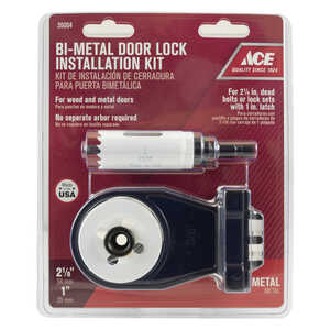 Ace  Door Lock Installation Kit  Bi-Metal