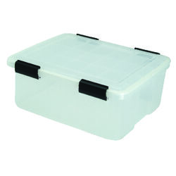 Iris  WEATHERTIGHT  7.7 in. H x 15.7 in. W x 19.7 in. D Stackable Storage Box