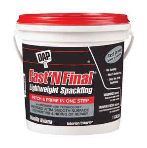 DAP  Fast 'N Final  Ready to Use White  Lightweight Spackling Compound  1 gal.